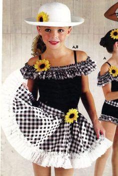 Novo com etiquetas Shorty ROUPA Country Western Dança Fantasia Daisy Mae Babados Legline Criança