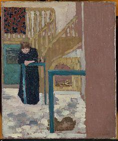 Édouard Vuillard (1868-1940). Mme Vuillard in a Set Designer's Studio, 1893-94,Oil on canvas, The Metropolitan Museum of Art.