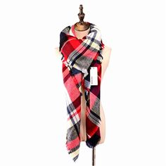 Women Winter Warm Long Scarf Plaid Checked Scarves Blanket Scarf Shawl Wrap NEW #Vinaka