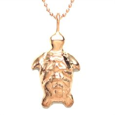 Michele Benjamin - Jewelry Design - 18K Rose Gold Vermeil Tortoise Dainty Pendant Necklace Jewelry