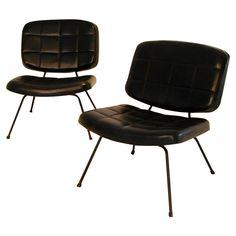 Cadeiras De Mobiliario Sala Estar Mcm Bare Minima Furniture Seating Slipper Chairs Paulin Pair Model Cm 190