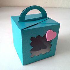 Caja satinada para un cupcake