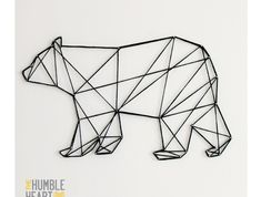 Geometric String Art Bear