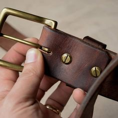 """craftandlore: """"John L. ★★★★★ Mountain Belt """"This belt ooze's quality from the classic brass buckle to the tapered end. This is true artisan craftsmanship of the highest standard. The leather has a. Brass Buckle, Leather Buckle, Leather Belts, Men's Belts, Burberry Men, Gucci Men, Under My Skin, Tom Ford Men, Hugo Boss Man"""