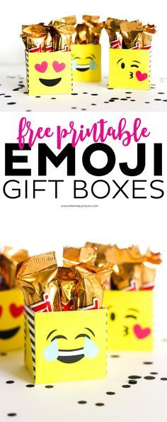 Share this on WhatsAppOne of the cutest birthday party theme nowadays is the Emoji Birthday Party. Emoji's are smileys in the past but are a [. My Funny Valentine, Valentine Box, Printable Valentine, 10th Birthday, Birthday Parties, Birthday Ideas, Diy Party Dekoration, Emoji Craft, Noel Christmas