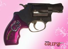 Awesome custom purple pistol grips with BLING. Swarovski® Rhinestones in channel setting and super-durable grip. They look so good in person and feel good in my hands. Weapons Guns, Guns And Ammo, Pistol For Women, Revolver Pistol, Revolvers, Best Handguns, Pink Guns, Pistol Annies, Best Concealed Carry