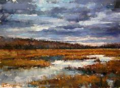 Storms on the Marsh 24x36 Oil Soderstrom Collection