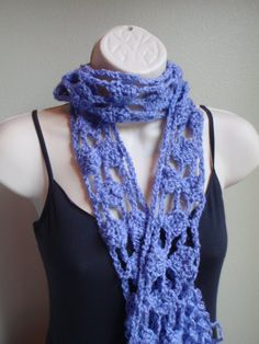 Periwinkle Blue Eyes Scarf by Spasojevich on Etsy, $16.99