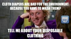 #clothdiapers are bad for the environment?  #Humor via @chgdiapers