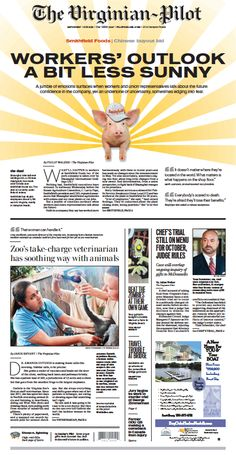 The Virginian-Pilot's front page for Saturday, July 13, 2013.