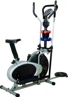 eliptica 7 en 1 bicicleta estática twister pesas computador