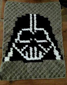 Star Wars Darth Vader C2C afghan