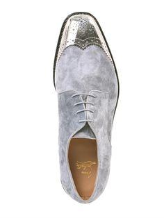 death-de-dior: CHRISTIAN LOUBOUTIN Gareth metal-capped suede shoes