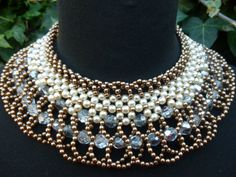 1990s Vintage Victorian Style Bronze and Cream by LMJVintage