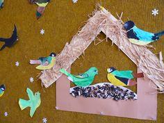 p Feeding Birds In Winter, Autumn Crafts, Winter Fun, Bird Feeders, Art Lessons, Kids Rugs, Christmas, School, Decor