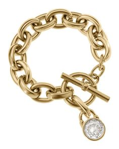 Not an MK fan at all but this is Cute too! Michael Kors Chain-Link Padlock Bracelet, Golden.