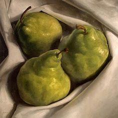 """""""Cozy Pears"""" - Original Fine Art for Sale - © Michael Naples -"""