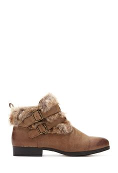 Buckled Faux Fur Booties | FOREVER 21 - 2000082885