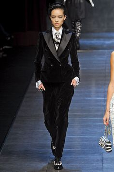 D&G - Dying for a tuxedo jacket that's velvet with satin lapels!