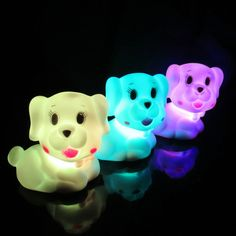 Cute Dog LED Night light Kids Lovely Mini Night Light With Switch Baby Bed Room Children Lamp Christmas Gift Bedside Decoration Led Night Light, Night Lights, Color Changing Led, Dog Design, I Love Dogs, Lamp Light, Pet Dogs, Children, Kids