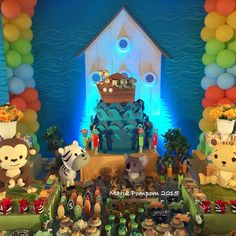 Amazing Noah's Ark birthday party! See more party ideas at CatchMyParty.com!
