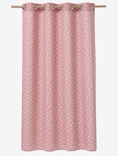 Polka Dot Curtain - Pink/white polka dot - 1