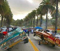 Speedy and ray at Elysian park Chevrolet Impala, 64 Impala Lowrider, Lowrider Trucks, Bugatti, Mano Brown, Cadillac, Arte Lowrider, Jdm, Lo Rider