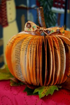 DIY - Fall Paper Book Pumpkin I'm going to use the Vintage Edgar Allan Poe I just brought on ThriftBooks!