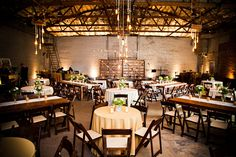The Ice House in Phoenix - interior wedding space. Cool & different