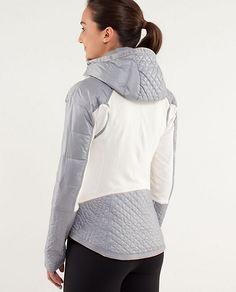 Run: Bundle Up Jacket Color: polar cream/silver slate Size: 10