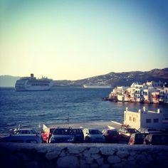 #Mykonos (sullo sfondo Costa Victoria e Costa Atlantica) #Greece #Grecia #Summer #Cruise #Summer