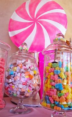 Having a kids birthday party or Candyland theme? Here's some tips to creating a candy buffet bar Candy Theme, Candy Party, Candy Buffet Tables, Buffet Ideas, Custom Candy, Easter Candy, Candy Store, Wedding Catering, Candyland
