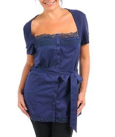 Plus Size Navy Lace Trim Shirt -- Size:1x Color:Navy alight, http://www.amazon.com/dp/B006KD34OU/ref=cm_sw_r_pi_dp_CRYNqb0DDA8NB