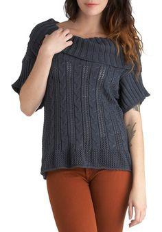 One Hit Fun-der Sweater in Slate, #ModCloth