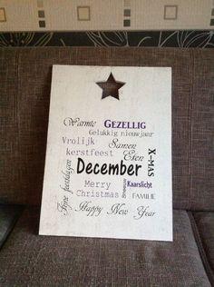 Tekstbord 'December'