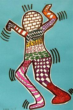 Artsonia Art Museum :Keith Haring Inspired Action Figure