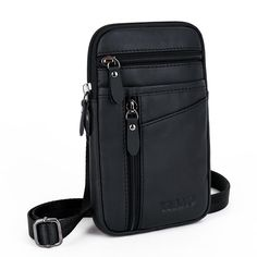 eaa1d6e195b3 Brand Genuine Leather Mini Cross Body Bag Men s Shoulder Messenger Bags  Male 7  Cell Phone Case Wallet Hip Bum Belt Waist Pack. Yesterday s price   US  27.68 ...