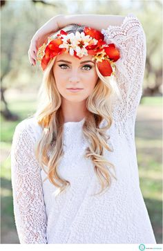 "Think it might be cool to do a few ""flowerchild esque""shots since I'm going for the vintagey look with florals and lace"