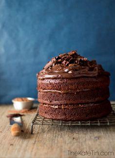 Chocolate Peanut Butter Milo Cake