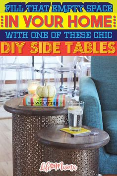 It's pretty simple to make your own using household items and other inexpensive craft supplies. Whether it's your living room, guest bedroom or another room in your home, take a look at these DIY side tables that are sure to give you major design inspiration.