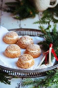 Gingerbread Cream Puffs with White Chocolate Chantilly # holiday baking, Christmas desserts