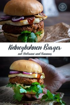 Healthy Food, Yummy Food, Healthy Recipes, Beste Burger, Food Obsession, Halloumi, Hummus, Veggies, Food And Drink
