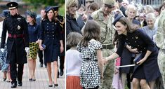 McQueen Coat: Navy coat dress with gold buttons and epaulets seen at the Irish Guard ceremony on Armed Forces Day.