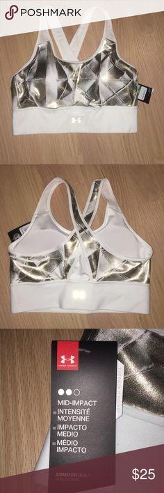 Under Armour sports bra Mid-impact  Breathable mesh   Convenient storage Under Armour Intimates & Sleepwear Bras