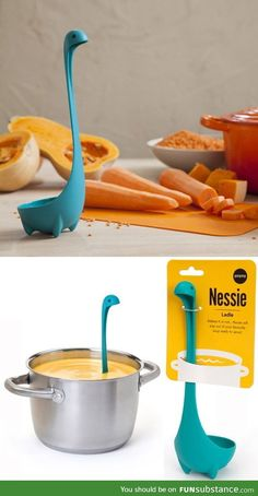 I need this! Partly because it's adorable, but also because IT STANDS UP IN YOUR SOUP HOW FUCKING AWESOME IS THAT. Cool tip/ Great Idea/ Want this now/ Cool tool/ Kitchen and Bedroom Gadgets/ Cool Tech Idea