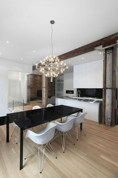 Esszimmer, Tisch, Schwarz, Moderne Küchen, Weiß Küchen, Esszimmer Design,  Modernen Esszimmerstühle, Esszimmer Dekoration, Esstische