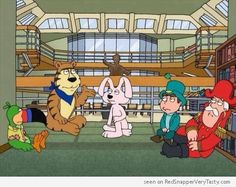 The Breakfast Club : Cap'n Crunch, Lucky Charms Leprechaun, Fruit Loops Toucan Sam, Frosted Flakes Tony the Tiger and the Trix Rabbit
