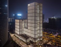 HG Esch Photography: Ningbo Bank, GMP - von Gerkan, Marg & Partners Hamburg, 2017 Archi Design, Facade Design, Ningbo, Facade Lighting, Facade Architecture, Skyscraper, Multi Story Building, Tower, Conception