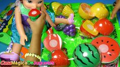 Set de Frutas Pegables y Cortables  Cortadas por Princesa Ariel y Kim