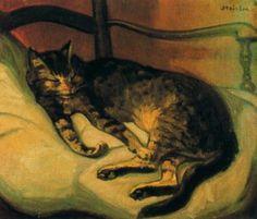 Chat couche (1898) - Théophile-Alexandre Steinlen